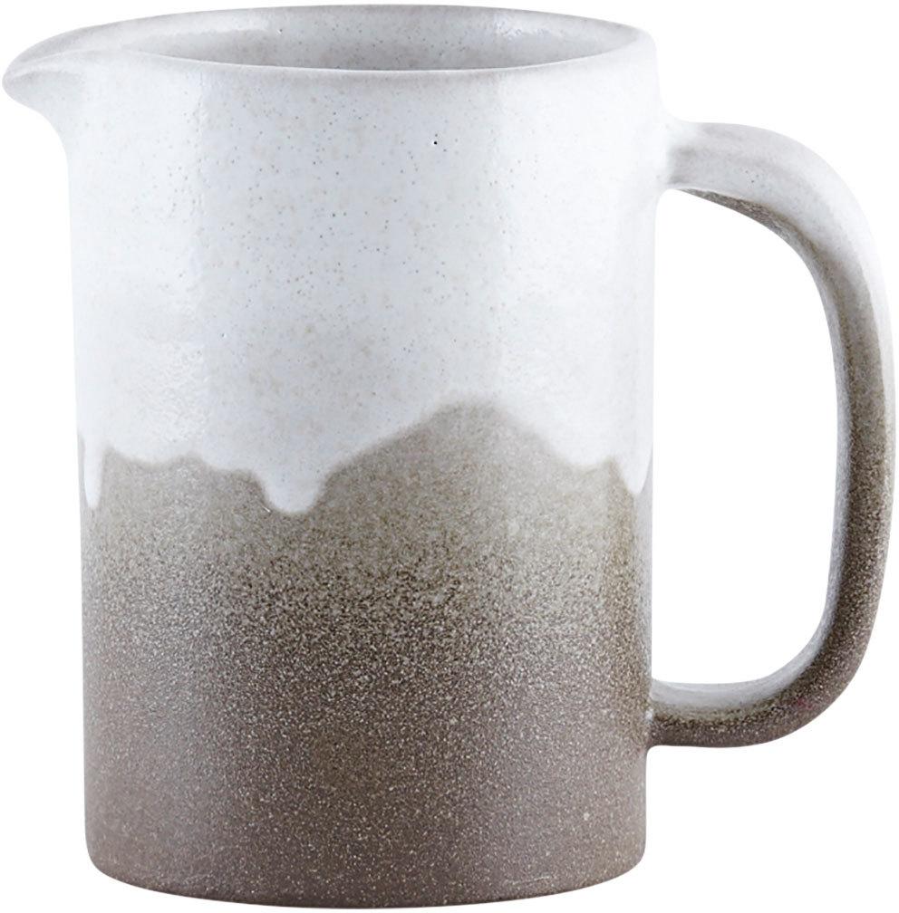 På billedet ser du variationen Running Glaze, Kande fra brandet House Doctor i en størrelse D: 8 cm. x H: 12 cm. i farven Hvid/Grå