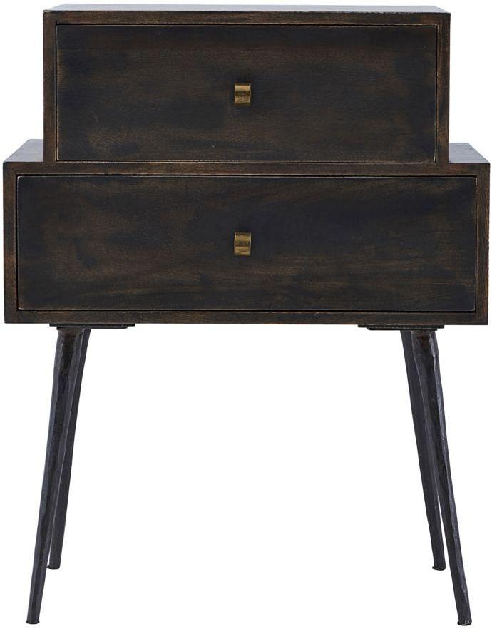 På billedet ser du variationen Kommode, Club, Black stain fra brandet House Doctor i en størrelse 60 x 40 cm. x H: 80 cm. i farven Mørkebrun