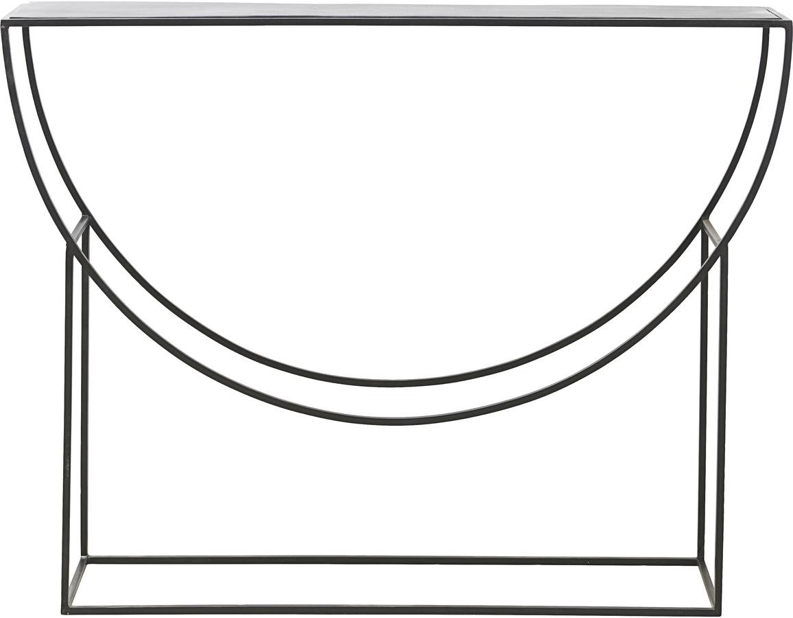 På billedet ser du variationen Konsol, Sculpture fra brandet House Doctor i en størrelse H: 90 cm. B: 28 cm. L: 120 cm. i farven Sort