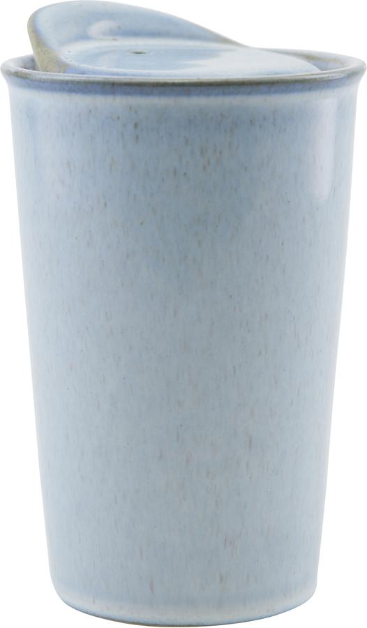 På billedet ser du variationen Krus, Togo fra brandet House Doctor i en størrelse D: 9 cm. H: 13,5 cm. i farven Lyseblå