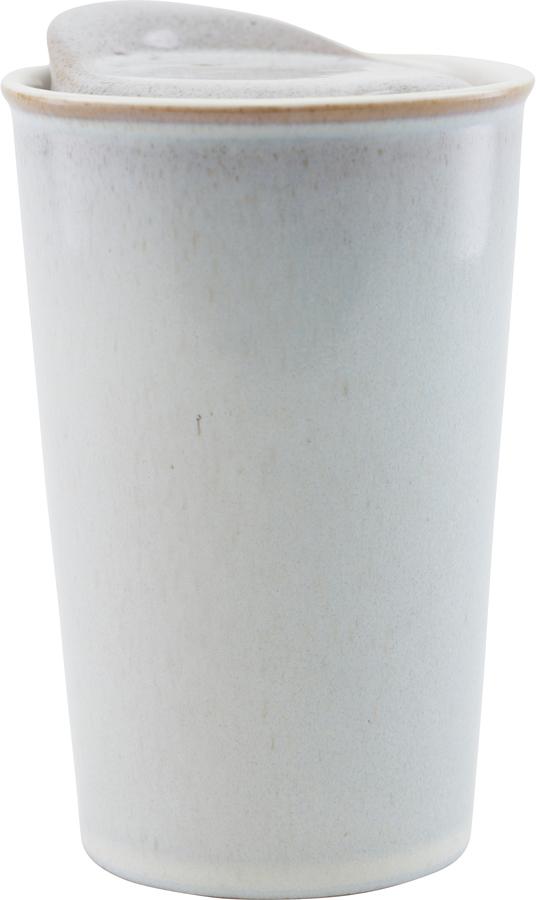 På billedet ser du variationen Krus, Togo fra brandet House Doctor i en størrelse D: 9 cm. H: 13,5 cm. i farven Off-white