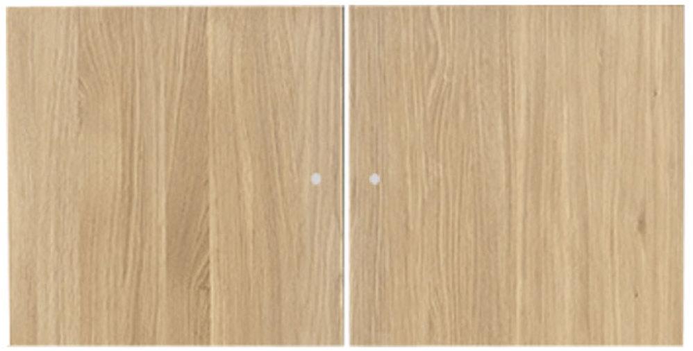 På billedet ser du variationen Låger, Space 2 doors fra brandet Preform i en størrelse H: 33 cm. B: 33 cm. L: 1,6 cm. i farven Natur