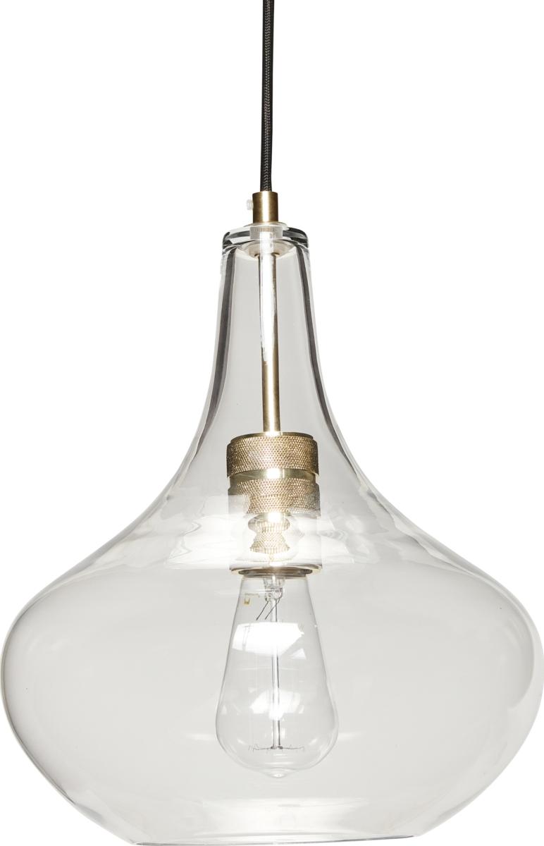 På billedet ser du variationen Lampe, Ledius fra brandet Hübsch i en størrelse D: 28 cm. H: 35 cm. i farven Messing/Klar