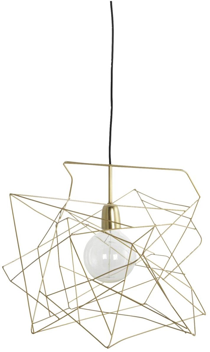 På billedet ser du variationen Lampeskærm, Asymmetric fra brandet House Doctor i en størrelse 45 x 45 cm. i farven Guld