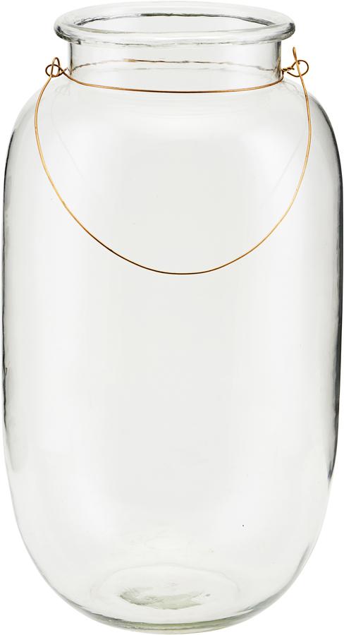 På billedet ser du variationen Lanterne, Adena fra brandet House Doctor i en størrelse D: 25 cm. H: 46 cm. i farven Glas