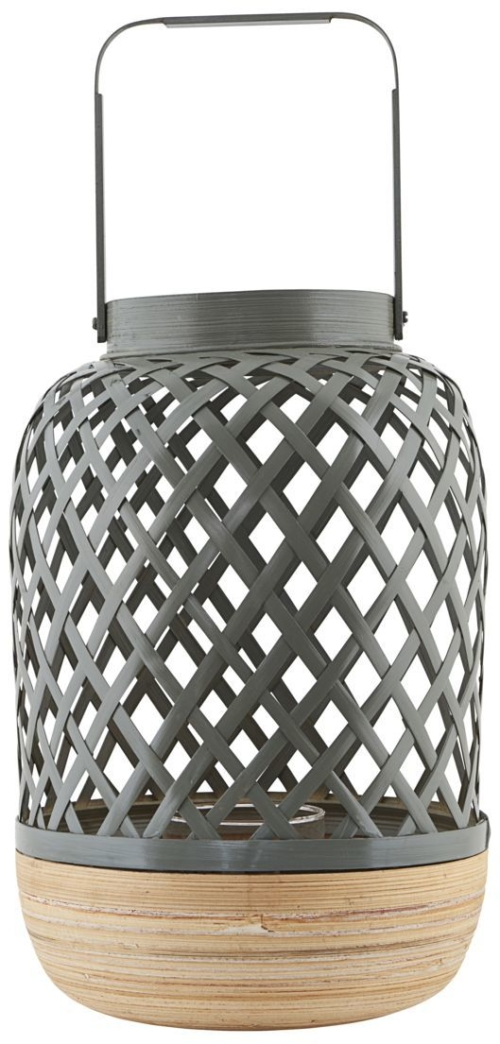 På billedet ser du variationen Breeze, Lanterne fra brandet House Doctor i en størrelse D: 12/20 cm. H: 30/41 cm. i farven Grå