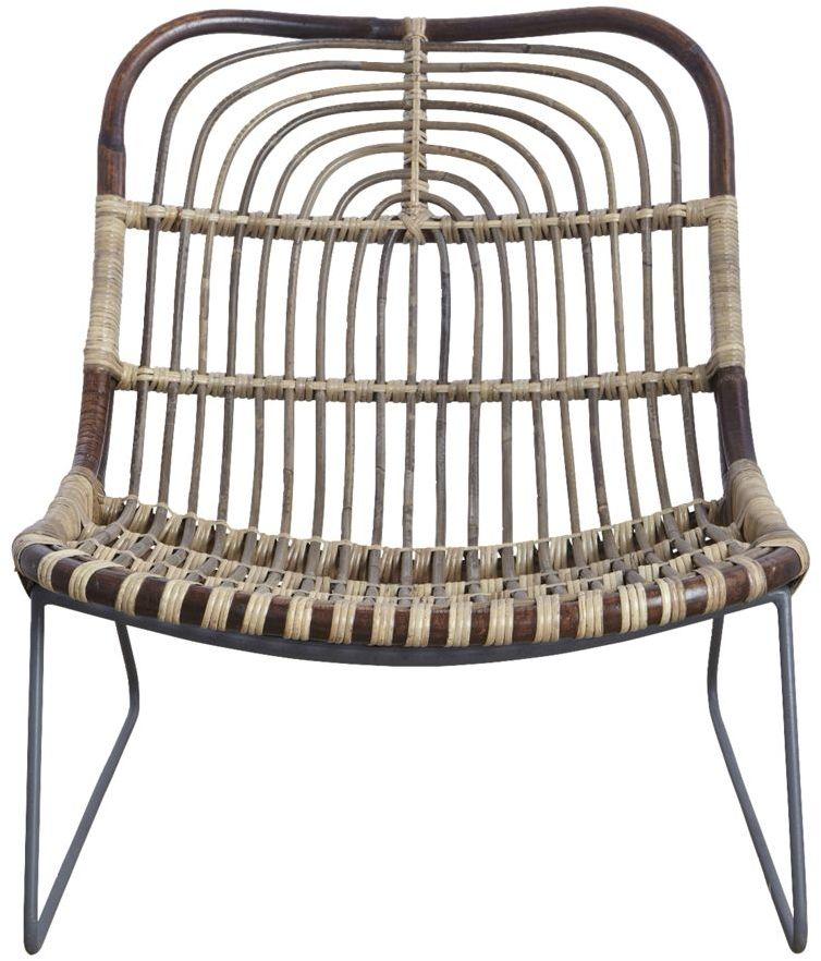 På billedet ser du variationen Lounge stol, Kawa fra brandet House Doctor i en størrelse 73 x 62 cm. x H: 68 cm. i farven Mørk Natur