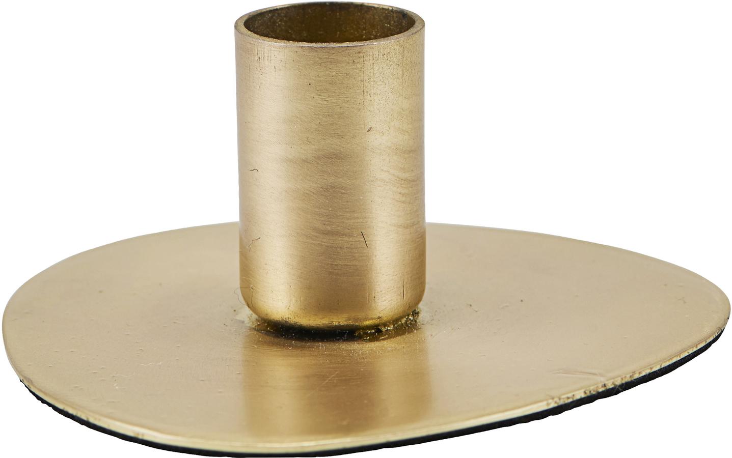 På billedet ser du variationen Lysestage, Circle, Messing finish fra brandet House Doctor i en størrelse D: 5,5 cm. i farven Messing