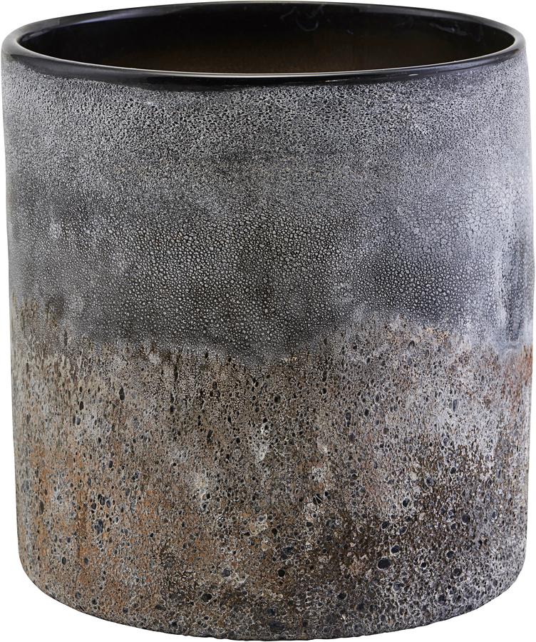 På billedet ser du variationen Lysestage, Rock fra brandet House Doctor i en størrelse D: 20 cm. H: 21 cm. i farven Mørkegrå