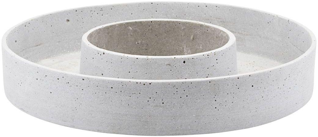 På billedet ser du variationen Lysestage til bloklys, The ring, Sten fra brandet House Doctor i en størrelse D: 35 cm. x H: 6 cm. i farven Grå