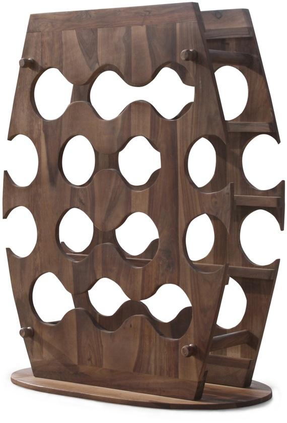 På billedet ser du variationen Minibar/Vinreol, Dostana fra brandet OBUZI i en størrelse H: 90 cm. B: 80 cm. L: 25 cm. i farven Mørk Natur