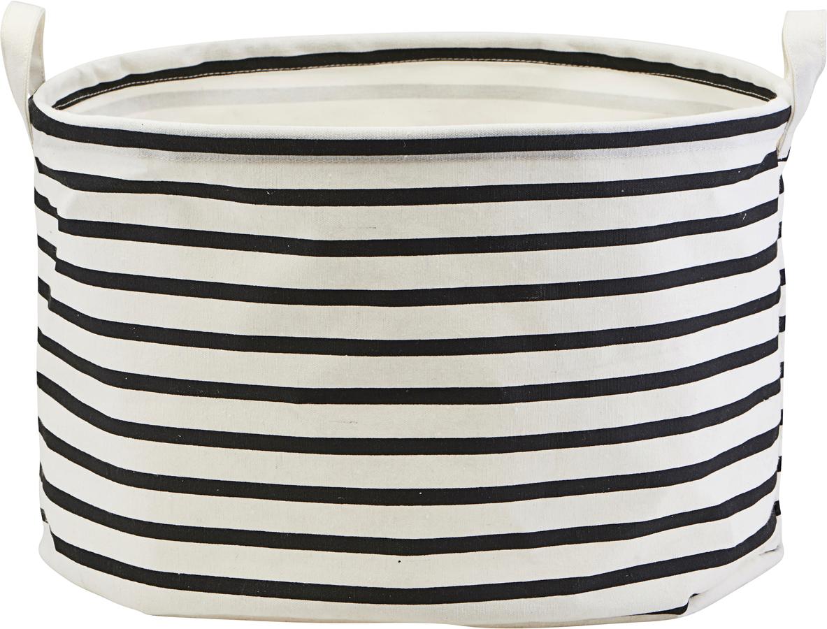 På billedet ser du variationen Opbevaring, Stripes fra brandet House Doctor i en størrelse D: 40 cm. H: 25 cm. i farven Sort/Hvid