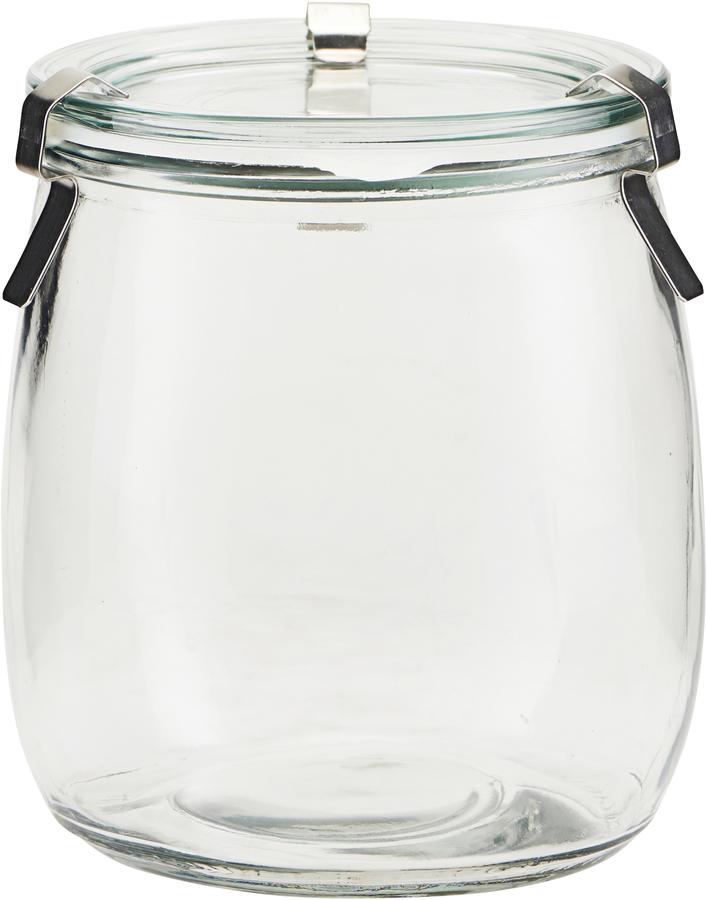 På billedet ser du variationen Opbevaringsglas, Use fra brandet House Doctor i en størrelse D: 11 cm. H: 12,2 cm. i farven Glas