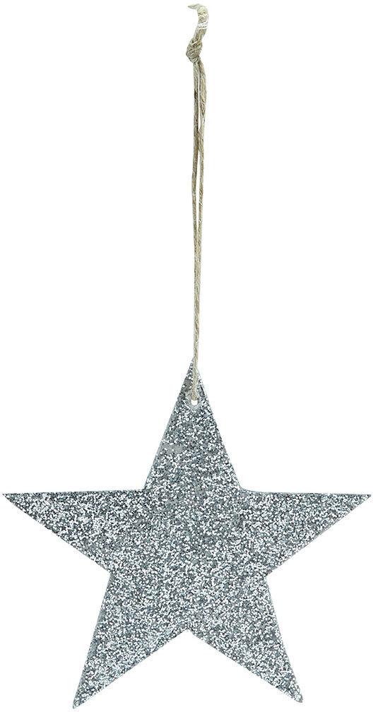 På billedet ser du variationen Ornament, Glitter, Stor fra brandet House Doctor i en størrelse D: 8 cm. i farven Sølv