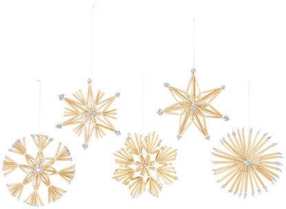 På billedet ser du variationen Ornaments, Straw fra brandet House Doctor i en størrelse D: 11 cm. i farven Natur
