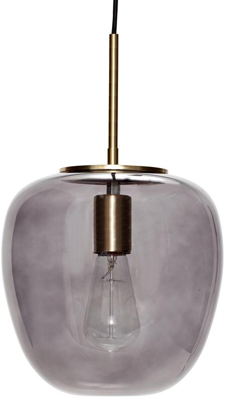 På billedet ser du variationen Pendel, Elegance fra brandet Hübsch i en størrelse D: 30 cm. H: 28 cm. i farven Grå/Messing