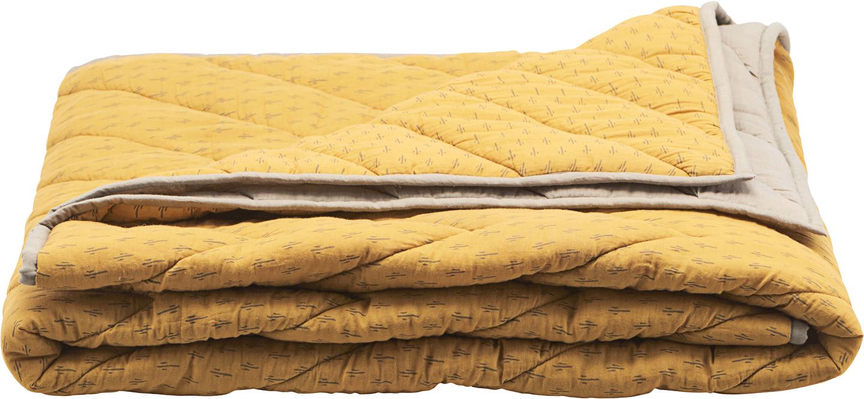 På billedet ser du variationen Plaid, Ninna fra brandet House Doctor i en størrelse B: 130 cm. L: 180 cm. i farven Mustard