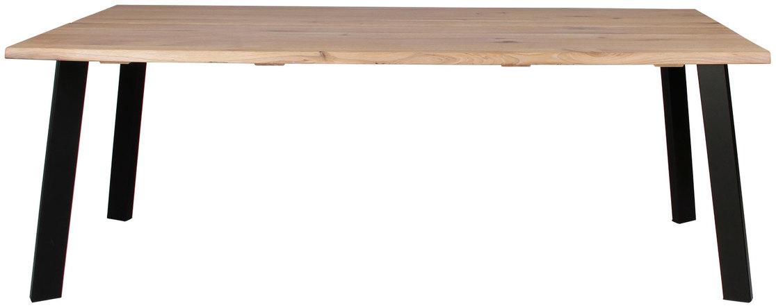 På billedet ser du variationen Plankebord, Curve wave, Slanting base fra brandet Preform i en størrelse H: 74 cm. B: 95 cm. L: 240 cm. i farven Lys Natur/Sort