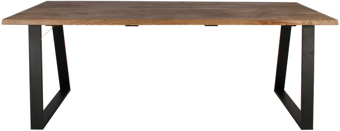 På billedet ser du variationen Plankebord, Curve wave, Trapez base fra brandet Preform i en størrelse H: 74 cm. B: 95 cm. L: 200 cm. i farven Mørk Natur/Sort