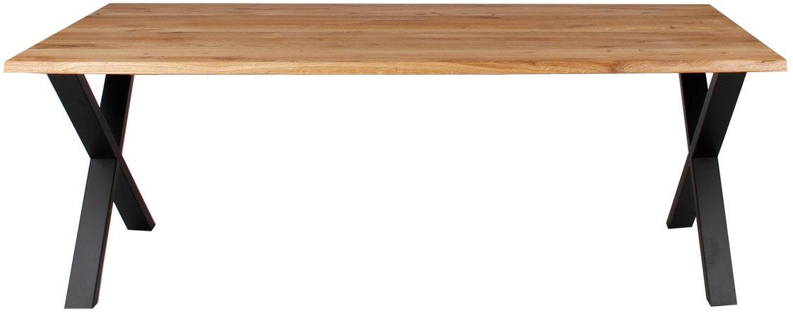 På billedet ser du Plankebord, Curve wave, X base fra brandet Preform i en størrelse H: 74 cm. B: 95 cm. L: 200 cm. i farven Natur/Sort