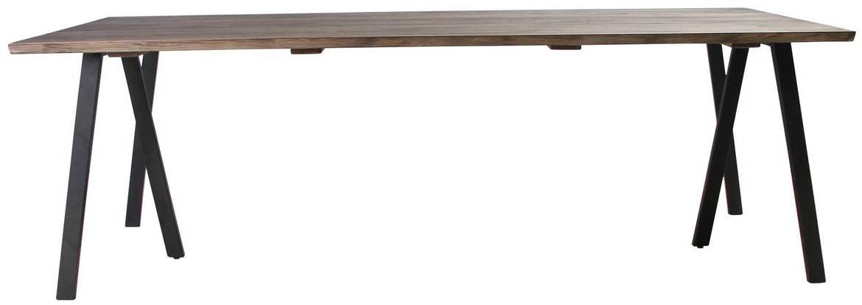 På billedet ser du variationen Plankebord, Trend V, 3 feet base fra brandet Preform i en størrelse H: 74 cm. B: 95 cm. L: 220 cm. i farven Mørk Natur/Sort
