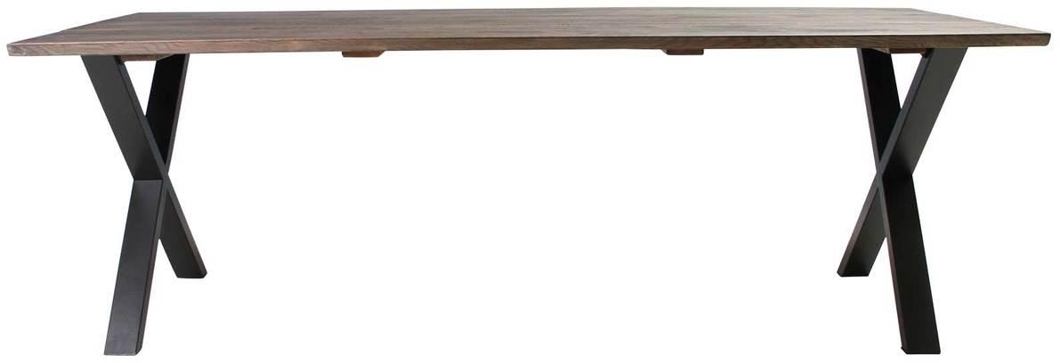 På billedet ser du variationen Plankebord, Trend V, X base fra brandet Preform i en størrelse H: 74 cm. B: 95 cm. L: 220 cm. i farven Mørk Natur/Sort