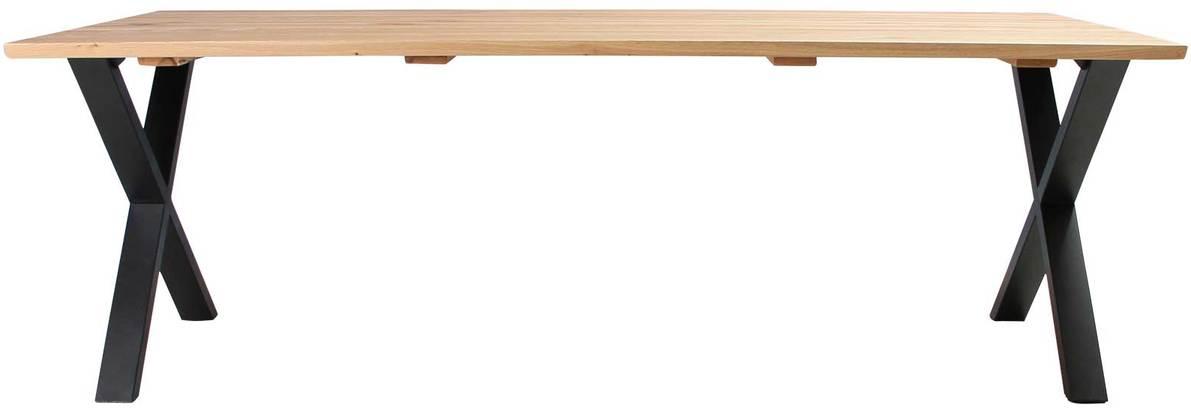 På billedet ser du Plankebord, Trend V, X base fra brandet Preform i en størrelse H: 74 cm. B: 95 cm. L: 220 cm. i farven Natur/Sort