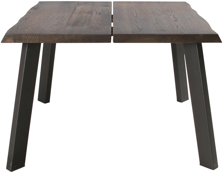 På billedet ser du variationen Sofabord, Curve Plade, B4 fra brandet Preform i en størrelse H: 47 cm. B: 72 cm. L: 72 cm. i farven Mørk Natur/Sort