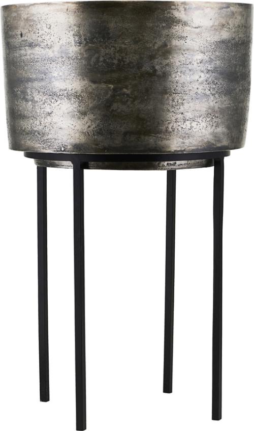 På billedet ser du variationen Potte, Kazi, Sølv oxideret fra brandet House Doctor i en størrelse D: 33,5 cm. H: 54 cm. i farven Sølv