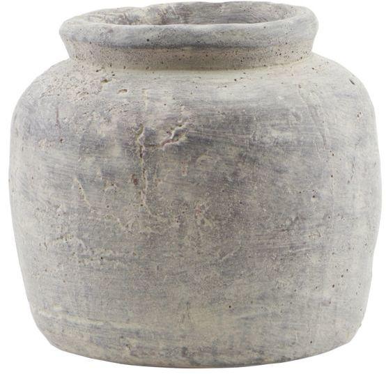På billedet ser du variationen Potte, Rustik, Small fra brandet House Doctor i en størrelse D: 19 cm. H: 18 cm. i farven Beton