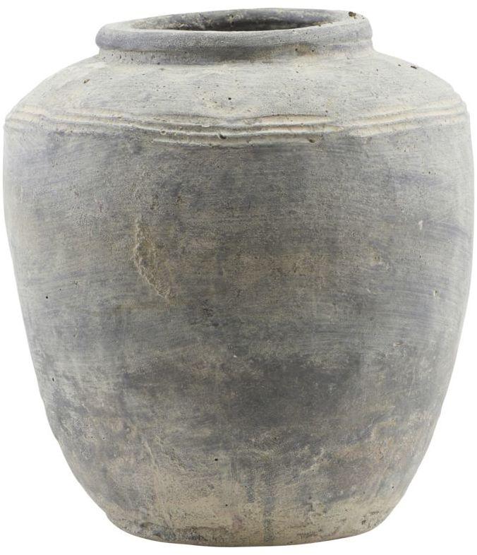 På billedet ser du variationen Potte, Rustik, Medium fra brandet House Doctor i en størrelse D: 27 cm. H: 31 cm. i farven Beton