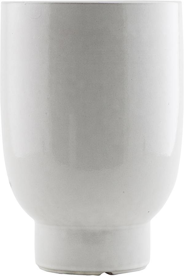 På billedet ser du variationen Potte, Unison fra brandet House Doctor i en størrelse D: 15 cm. H: 22 cm. i farven Hvid