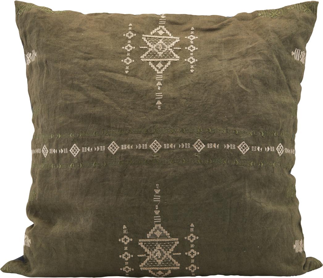 På billedet ser du variationen Pudebetræk, Inka fra brandet House Doctor i en størrelse B: 50 cm. L: 50 cm. i farven Grøn