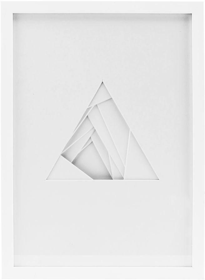 På billedet ser du variationen Shapes, Relief, Triangle fra brandet House Doctor i en størrelse 29.7 x 42 cm. i farven Hvid