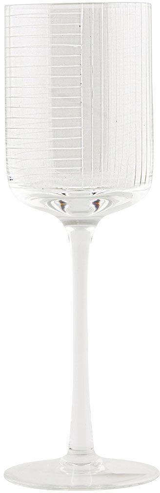 På billedet ser du variationen Check, Rødvinsglas fra brandet House Doctor i en størrelse D: 7,3 cm. x H: 23,5 cm. i farven Klar