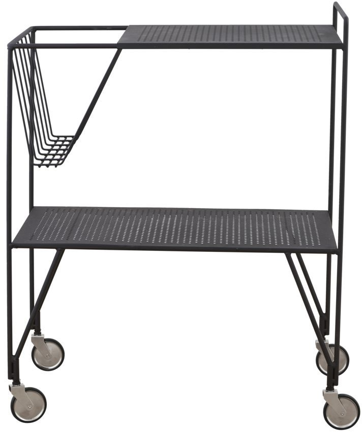 På billedet ser du variationen Rullebord, Use fra brandet House Doctor i en størrelse 65 x 40 cm. x H: 81 cm. i farven Sort
