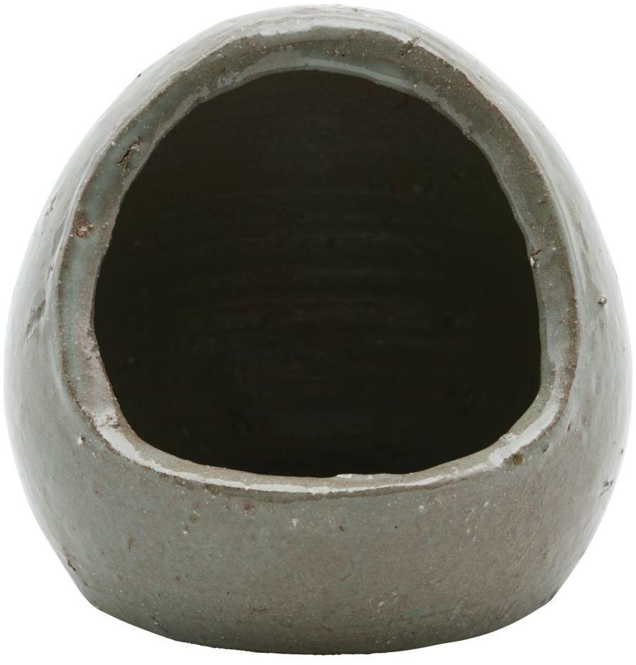 På billedet ser du variationen Salt krukke, Organic fra brandet House Doctor i en størrelse D: 12 cm. H: 14 cm. i farven Brun