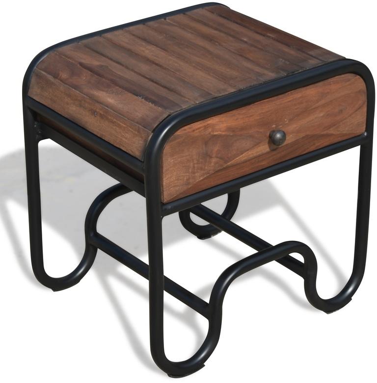 På billedet ser du Sengebord i rosentræ, Christiania Dark fra brandet OBUZI i en størrelse H: 50 cm. B: 50 cm. L: 40 cm. i farven Mørk Natur/Sort