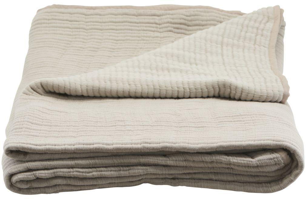 På billedet ser du variationen Sengetæppe, Lia fra brandet House Doctor i en størrelse B: 140 cm. L: 260 cm. i farven Sand