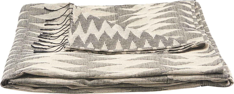 På billedet ser du variationen Sengetæppe, Totem fra brandet House Doctor i en størrelse B: 140 cm. L: 260 cm. i farven Grå