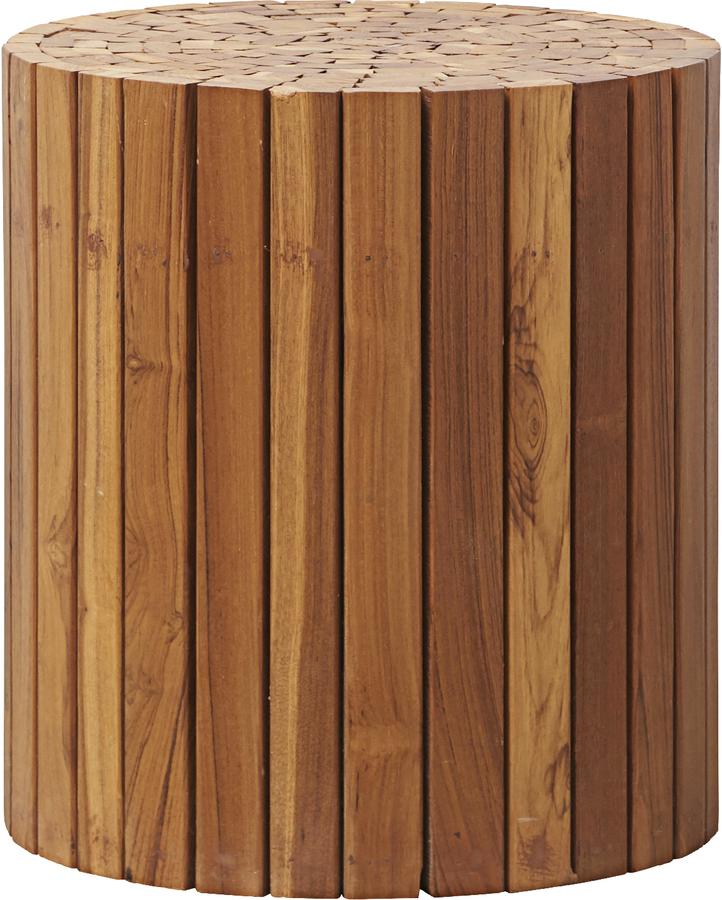 På billedet ser du variationen Sidebord, Teaky fra brandet House Doctor i en størrelse D: 38 cm. H: 40 cm. i farven Natur