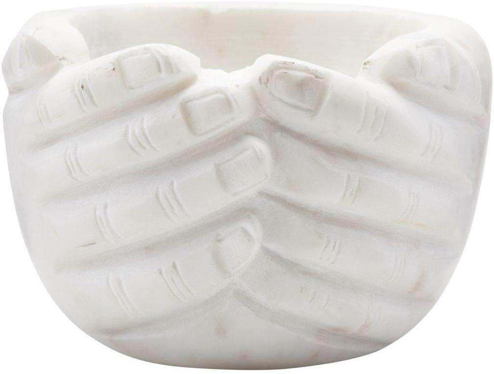 På billedet ser du variationen Skål, Hands fra brandet House Doctor i en størrelse H: 10 cm. B: 15 cm. L: 15 cm. i farven Hvid