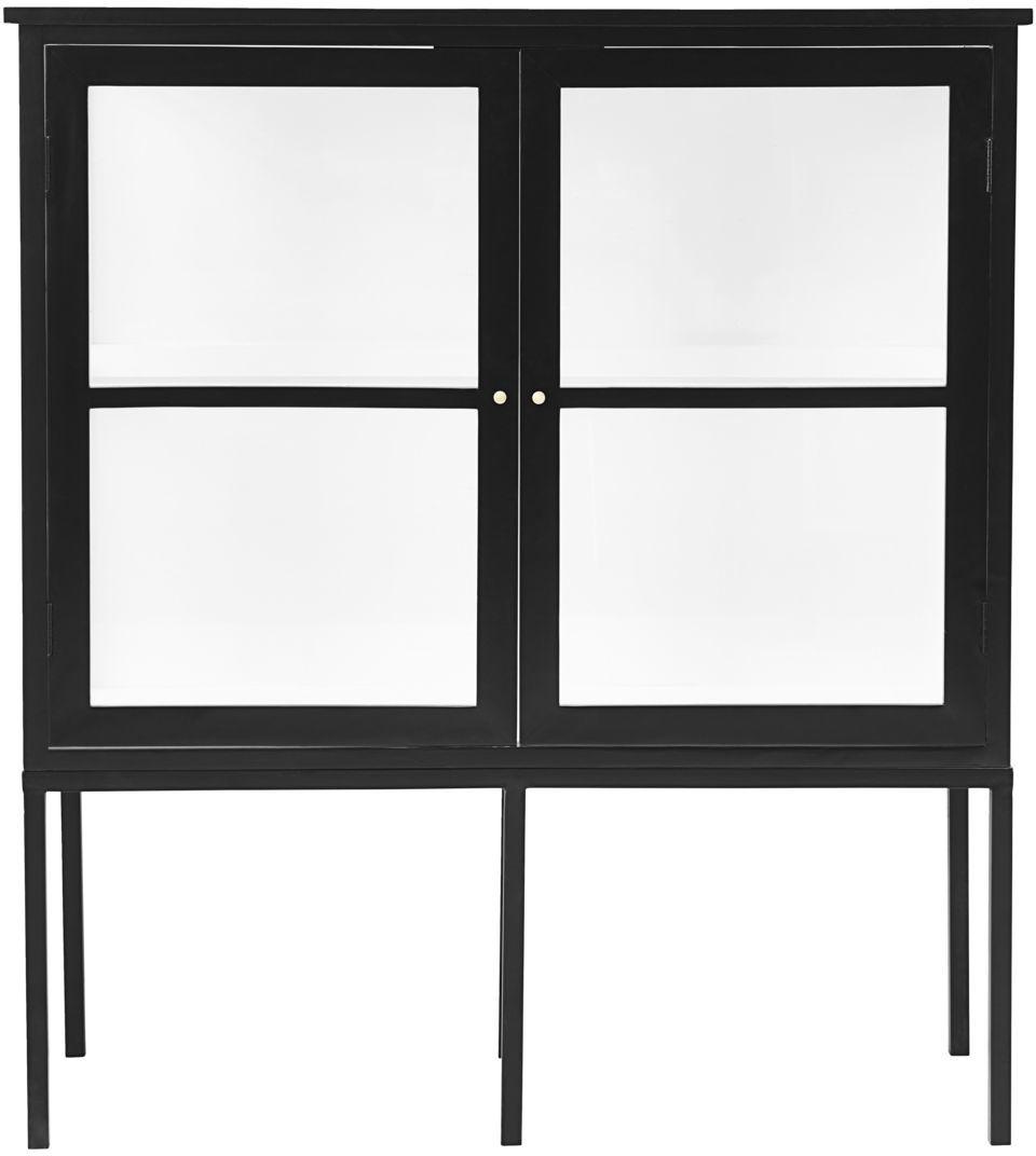På billedet ser du variationen Skab, 2 døre, Fox fra brandet House Doctor i en størrelse 40 x 120 cm. x H: 135 cm. i farven Sort