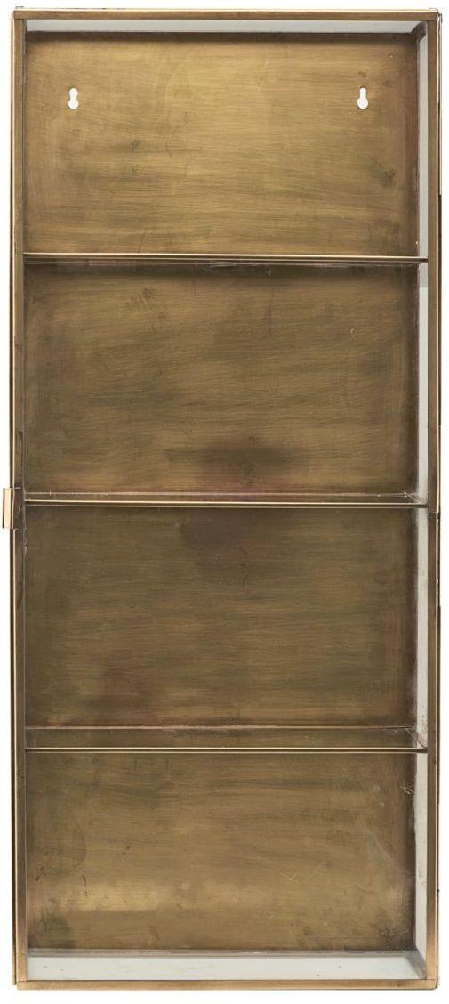 På billedet ser du variationen Glass Wall, Skab fra brandet House Doctor i en størrelse 35 x 15 cm. x H: 80 cm. i farven Messing