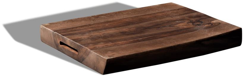 På billedet ser du variationen Skærebræt, Edge fra brandet OBUZI i en størrelse H: 4 cm. B: 25 cm. L: 35 cm. i farven Mørk Natur