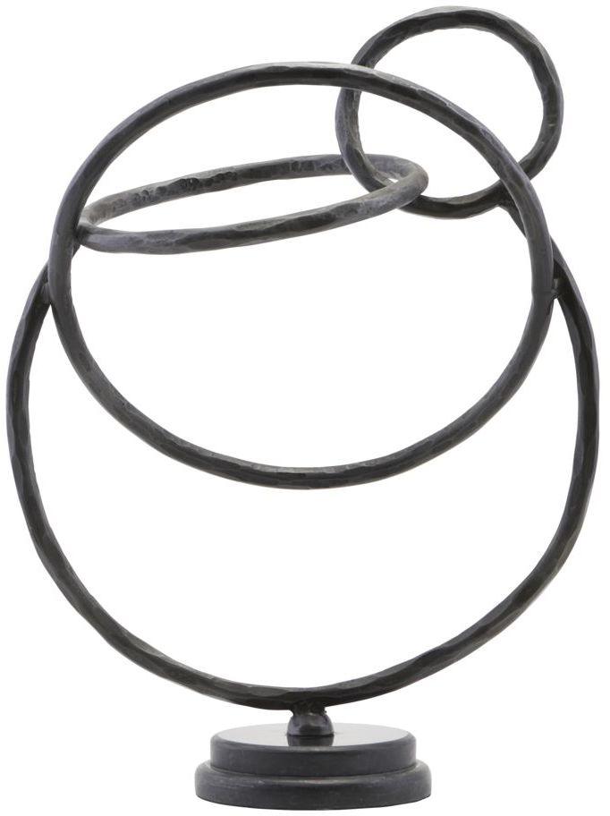 På billedet ser du variationen Skulptur, Circles fra brandet House Doctor i en størrelse H: 38,5 cm. B: 19,5 cm. L: 32 cm. i farven Sort
