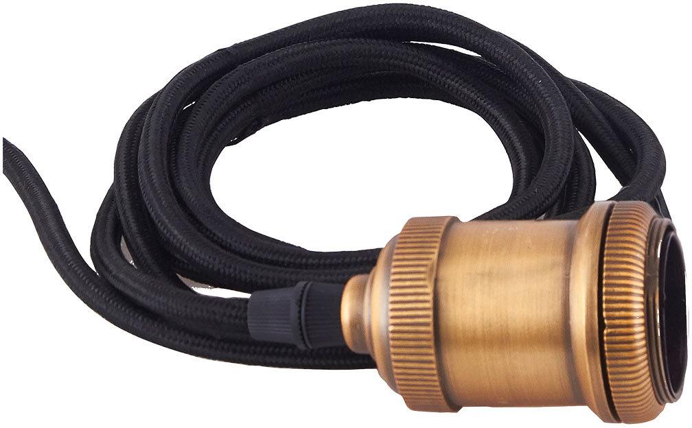 På billedet ser du variationen Socket, Fly, E27 fra brandet House Doctor i en størrelse D: 4,5 cm. x H: 14 cm. i farven Messing