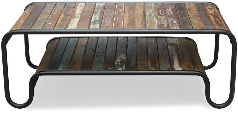 På billedet ser du Sofabord, Christiania Hip fra brandet OBUZI i en størrelse H: 45 cm. B: 120 cm. L: 60 cm. i farven Multi