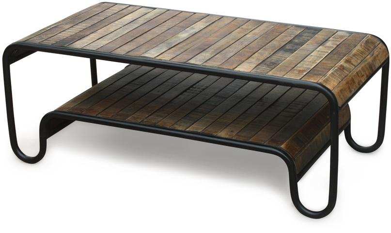 På billedet ser du Sofabord, Christiania Raw fra brandet OBUZI i en størrelse H: 45 cm. B: 120 cm. L: 60 cm. i farven Mørk Natur/Sort