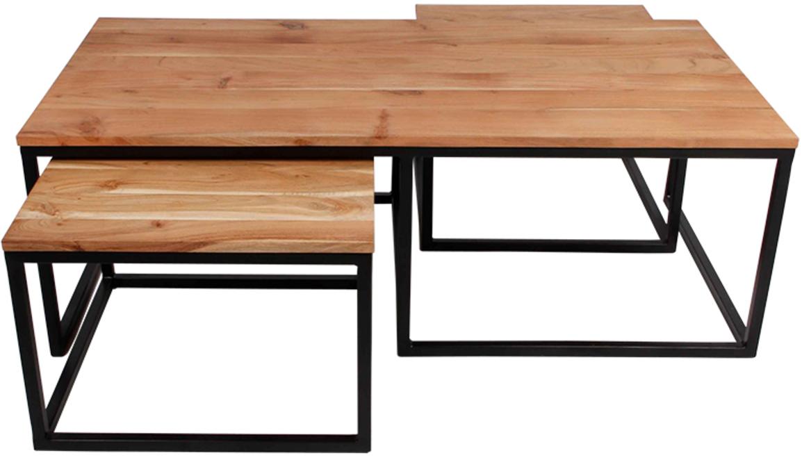 På billedet ser du variationen Sofabord, Lorry fra brandet Preform i en størrelse Sæt á 3 stk. i farven Natur/Sort